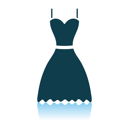 Dress Icon. Shadow Reflection Design. Vector Illustration.
