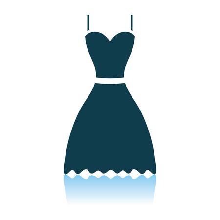 Dress Icon. Shadow Reflection Design. Vector Illustration.