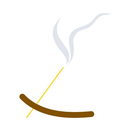 Incense Sticks Icon. Flat Color Design. Vector Illustration. Stock Vector - 123114975