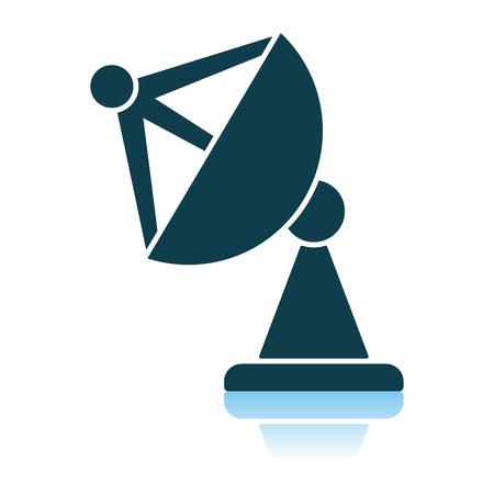 Satellite Antenna Icon. Shadow Reflection Design. Vector Illustration.