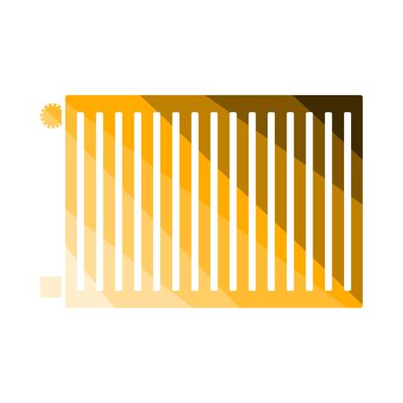 Icon Of Radiator. Flat Color Ladder Design. Vector Illustration. Ilustração