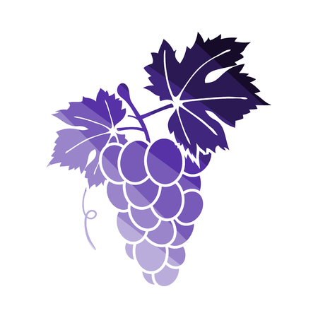 Icon Of Grape. Flat Color Ladder Design. Vector Illustration. 일러스트