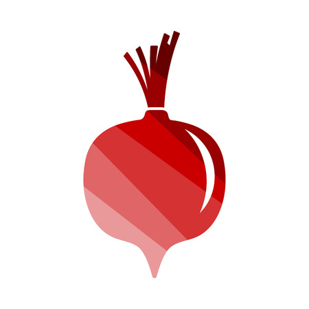 Beetroot Icon. Flat Color Ladder Design. Vector Illustration.