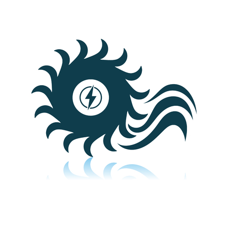 Water Turbine Icon. Shadow Reflection Design. Vector Illustration.