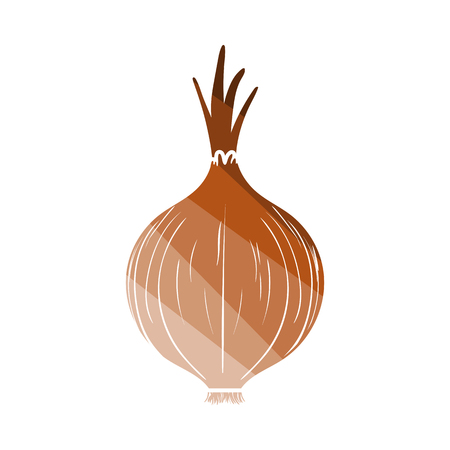 Onion Icon. Flat Color Ladder Design. Vector Illustration.