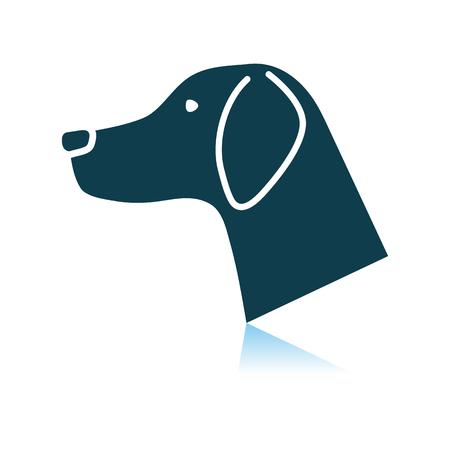 Dog Head Icon. Shadow Reflection Design. Vector Illustration.