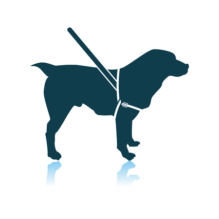 Guide Dog Icon. Shadow Reflection Design. Vector Illustration. Stock Illustratie