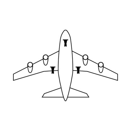 Airplane Takeoff Icon. Outline Simple Design. Vector Illustration.