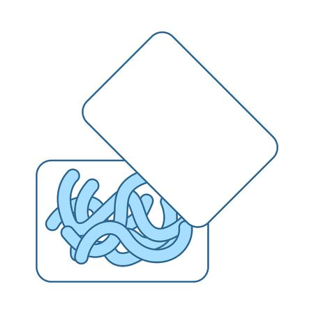 Icon Of Worm Container. Thin Line With Blue Fill Design. Vector Illustration. 일러스트