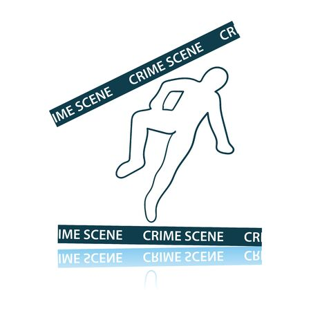 Crime Scene Icon. Shadow Reflection Design. Vector Illustration. Reklamní fotografie - 125074147
