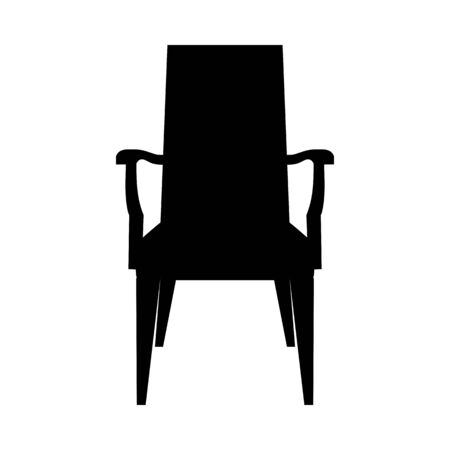 Chair Silhouette. Simple Black Design. Vector Illustration.