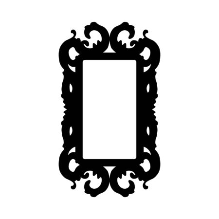 Mirror Silhouette. Simple Black Design. Vector Illustration.