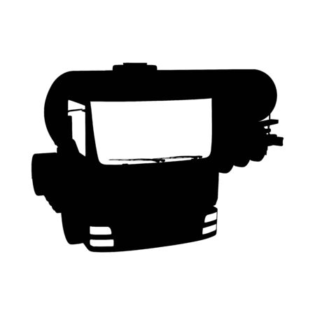 Truck Silhouette. Highly Detailed Smooth. Vector Illustration.