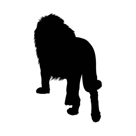 Lion Silhouette. Highly Detailed Smooth Design. Vector Illustration.