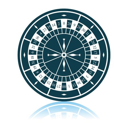 Roulette Wheel Icon. Shadow Reflection Design. Vector Illustration. 스톡 콘텐츠 - 125319858