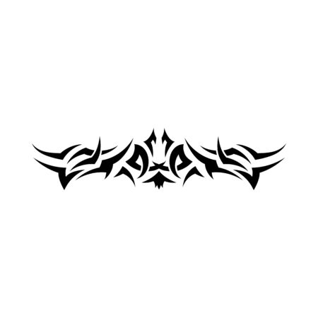 Pattern of tribal tattoo for design use Illustration