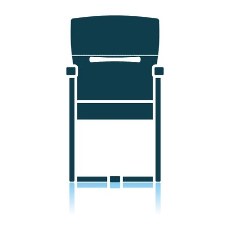 Guest Office Chair Icon. Shadow Reflection Design. Vector Illustration. Ilustrace