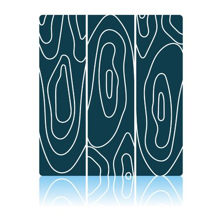 Icon Of Parquet Plank Pattern. Shadow Reflection Design. Vector Illustration.