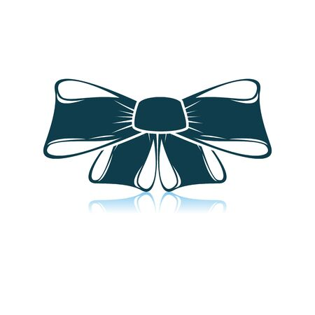 Party Bow Icon. Shadow Reflection Design. Vector Illustration.