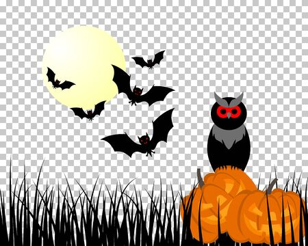 Happy halloween theme greeting card. Vector illustration. Illustration