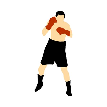 Boxing silhouette.