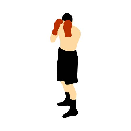 Boxing silhouette. Ilustração Vetorial