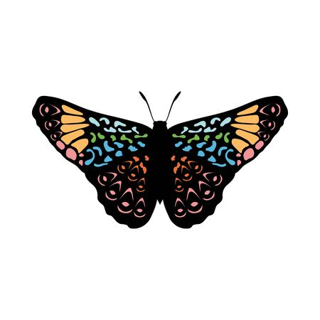 Butterfly Icon. Colored Design. EPS 10 vector illustration. Illustration