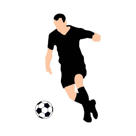 Highly detailed soccer silhouette.