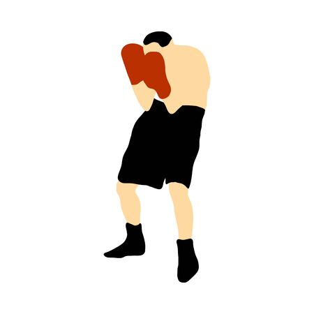 Boxing  silhouette. Fully editable