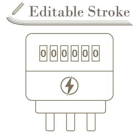 Icône de compteur électrique. Conception simple de course modifiable. Vecteurs