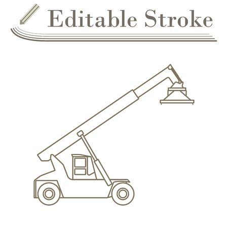 Port-Loader-Symbol. Bearbeitbarer Strich einfaches Design. Vektor-Illustration.
