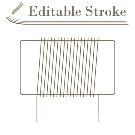 Inductor Coil Icon. Editable Stroke Simple Design. Vector Illustration. Illustration