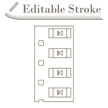 Diode Smd Component Tape Icon. Editable Stroke Simple Design. Vector Illustration.