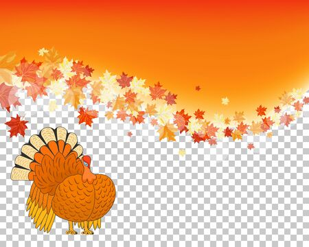 Thanksgiving Day. Transparency Grid Design. Vector Illustration. Vector Illustration