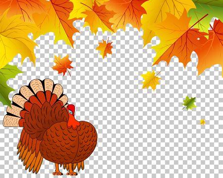 Thanksgiving Day.  Transparency Grid Design. Vector Illustration. Illustration