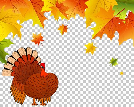 Thanksgiving Day.  Transparency Grid Design. Vector Illustration.  イラスト・ベクター素材