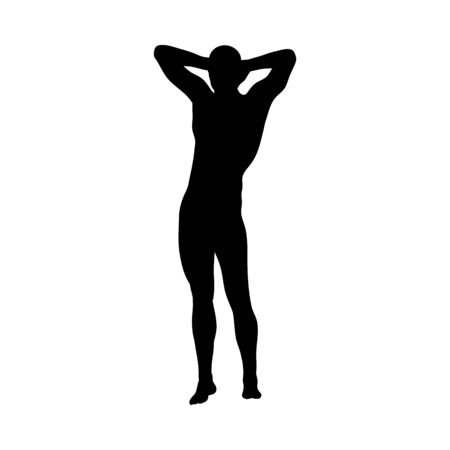 Standing Pose Man Silhouette. Very smooth and detailed. Vector illustration. Ilustrace