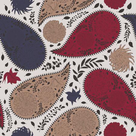 Nahtloses Vektormuster der orientalischen Gurken. Um nahtlose Muster zu erstellen, ziehen Sie einfach alle Gruppen in die Farbfeldleiste und verwenden Sie sie zum Füllen von Konturen. Vektorgrafik