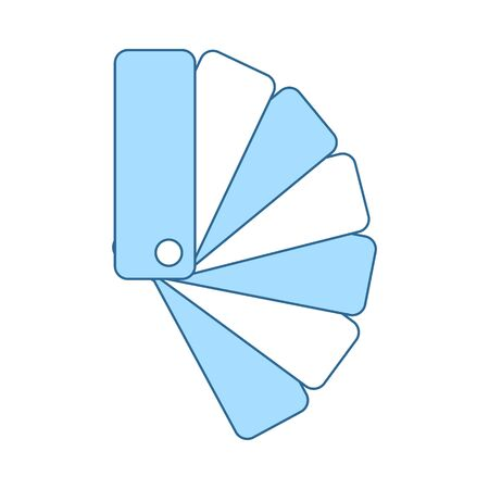 Color Samples Icon. Thin Line With Blue Fill Design. Vector Illustration. Illustration