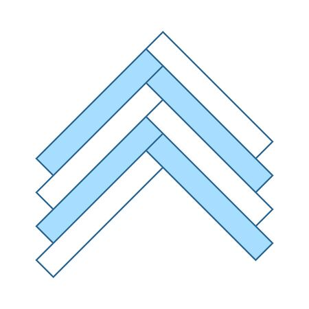 Parquet Icon. Thin Line With Blue Fill Design. Vector Illustration. Stock Illustratie