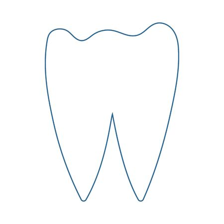 Tooth Icon. Thin Line With Blue Fill Design. Vector Illustration.