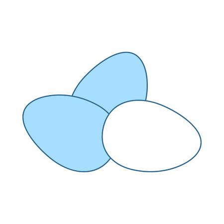 Eggs Icon. Thin Line With Blue Fill Design. Vector Illustration.