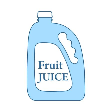 Fruit Juice Canister Icon. Thin Line With Blue Fill Design. Vector Illustration. Ilustração