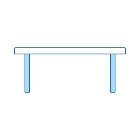 Coffee Table Icon. Thin Line With Blue Fill Design. Vector Illustration.