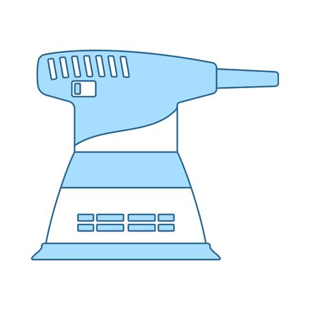 Grinder Icon. Thin Line With Blue Fill Design. Vector Illustration.