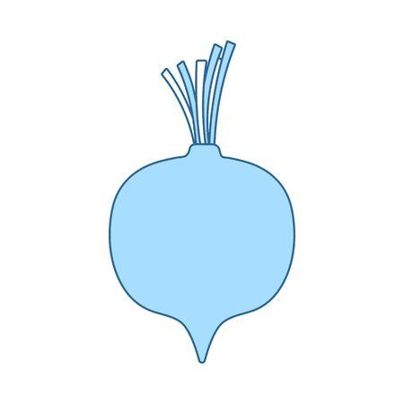 Beetroot Icon. Thin Line With Blue Fill Design. Vector Illustration. Illusztráció