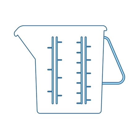Measure Glass Icon. Thin Line With Blue Fill Design. Vector Illustration.