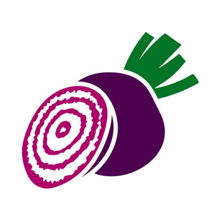 Beetroot Icon. Flat Color Design. Vector Illustration.