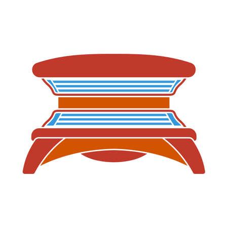 Icon Of Solarium. Flat Color Design. Vector Illustration.