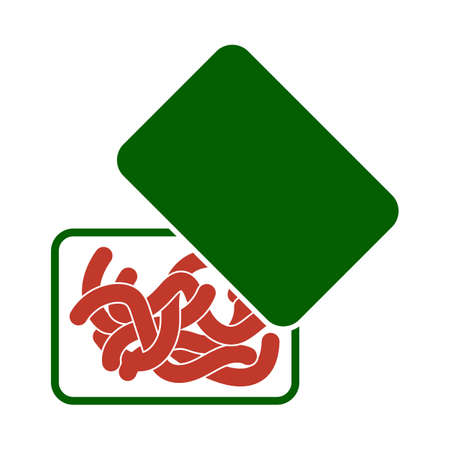 Icon Of Worm Container. Flat Color Design. Vector Illustration. Illustration